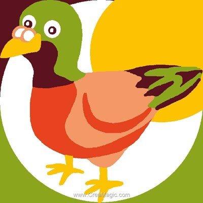 Kit canevas enfant Luc Création oiseau multicolor