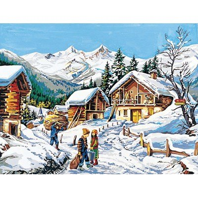 L'hiver au hameau canevas - SEG