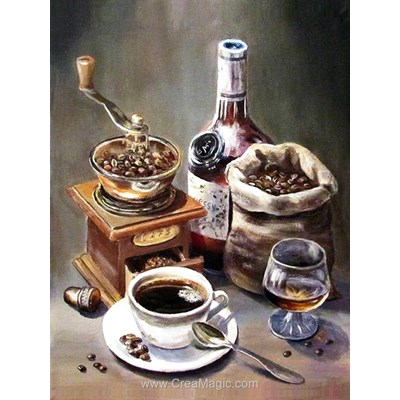 Kit broderie diamant Diamond Painting coffee set