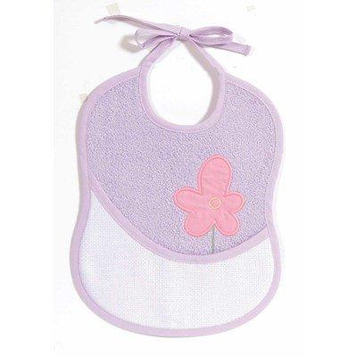 Bavoir bébé à broder fleur violet de DMC