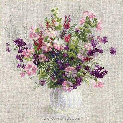 Vase blanc de l'été modèle broderie - RIOLIS
