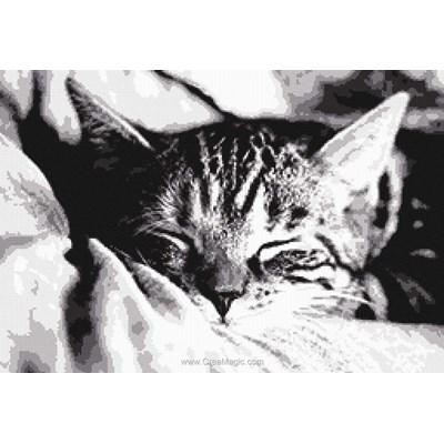Kit à broder la douce siste du chat de Marie Coeur