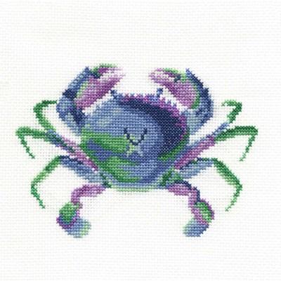 Crabe coloré aquatique point de croix compté - DMC