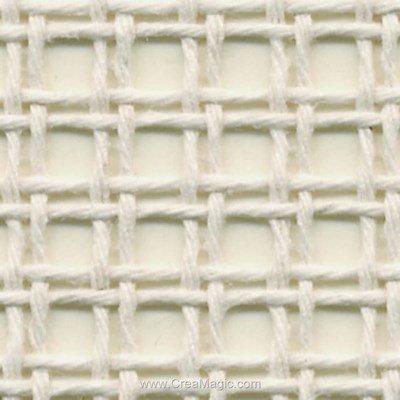 Toile canevas soudan 18 pts/cm blanc (gros trous) - brod'star