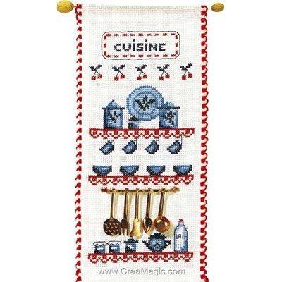 Kit bannière Princesse message cuisine à broder
