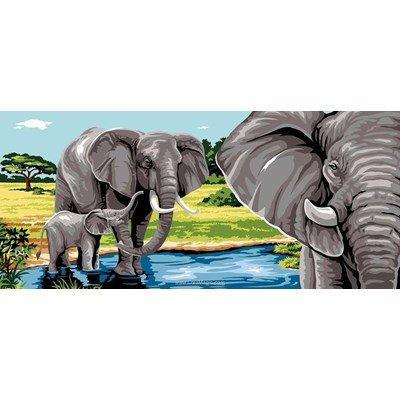 Les éléphants de l'afrique canevas - Margot