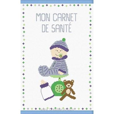 Kit protège carnet de santé pour bébé Princesse bébé grandit bleu à broder