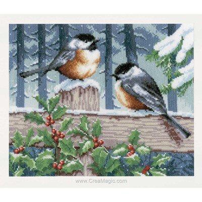 Kit Vervaco à broder les oiseaux en hiver