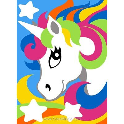Canevas Margot licorne multicolore
