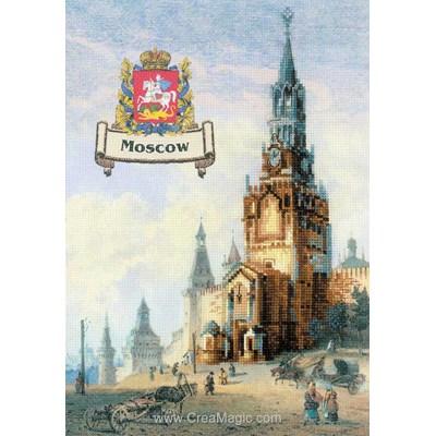 Point de croix à broder villes de russie - moscou - RIOLIS