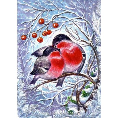Broderie diamant bullfinches - Collection d'art