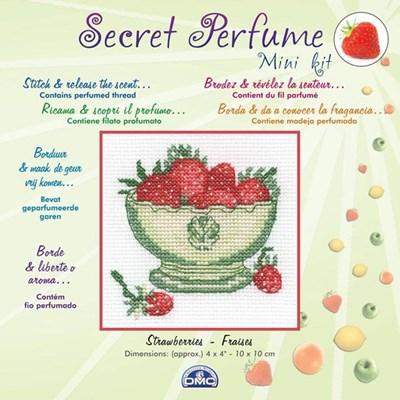 Bol de fraises broderie mini kit - DMC