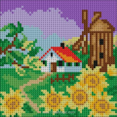 Broderie diamant Diamond Painting autumn landscape