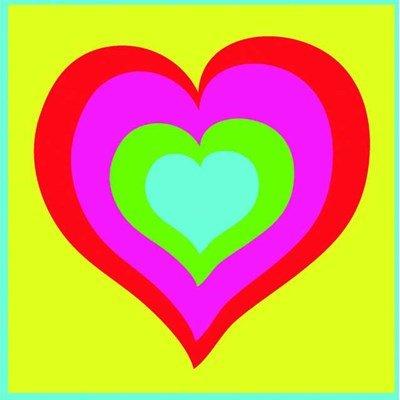 Kit canevas a broder pour enfants DMC le coeur multico