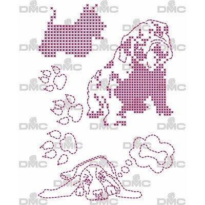 Feuille magique animal chiens - costum by me ! DMC