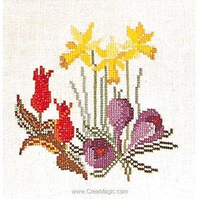 Broderie au point de croix compté spring bouquet sur aida de Thea Gouverneur
