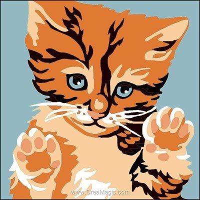 Kit canevas Luc Création pour enfants un trésor de chaton