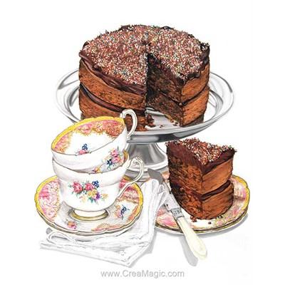 Kit broderie diamant cake & coffee - Diamond Painting