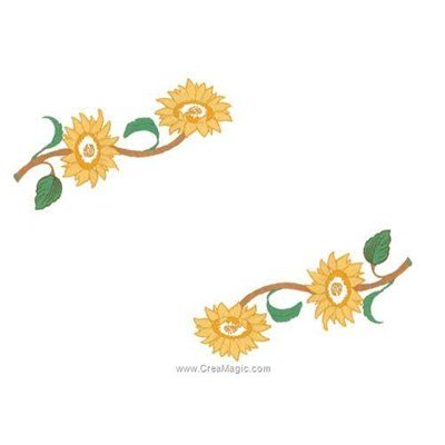Napperon duo de soleil à broder aux points de broderie Luc Création
