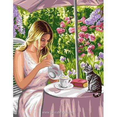 L'heure de thé canevas chez Rafael Angelot