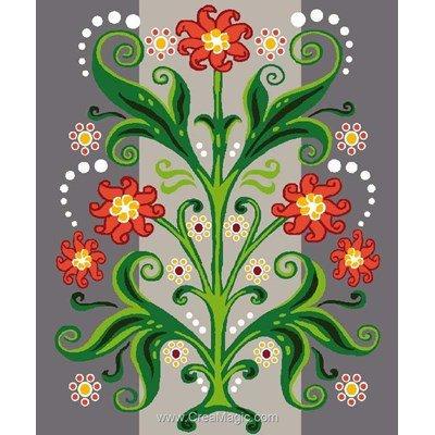 Canevas kit enfant complet motif déco florale - Luc Création