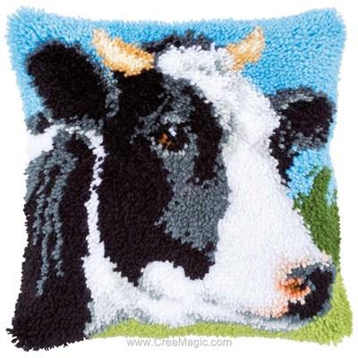 Kit coussin point noue Vervaco vache bretonne pie noire