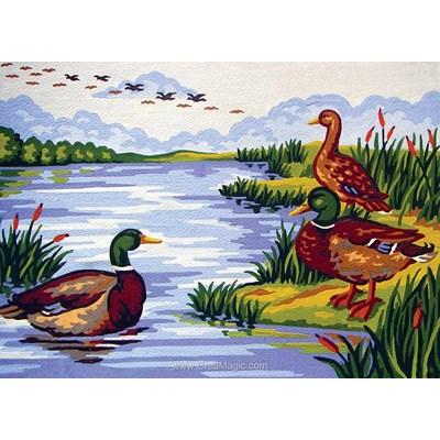 La migration des canards canevas - Collection d'art