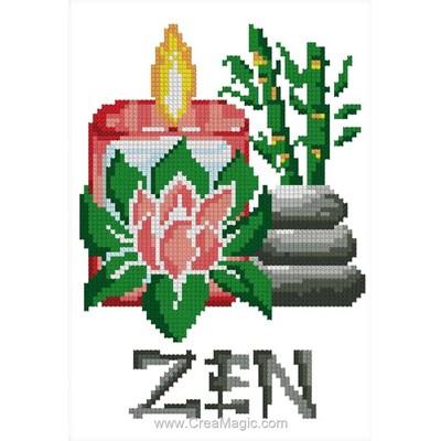 Mini kit broderie zen de Luc Création