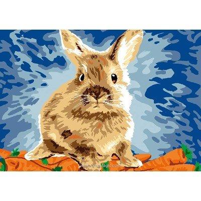 Vive les carottes de lapin canevas chez Luc Création