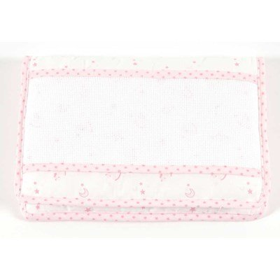 Protège carnet de santé pour bébé baby star - rose à broder DMC