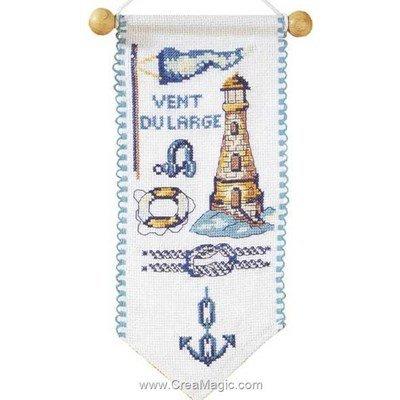 Kit bannière à broder vent du large bleu de Princesse