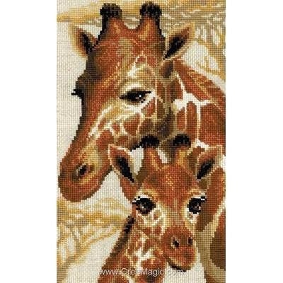 Les girafes tableau point de croix - RIOLIS