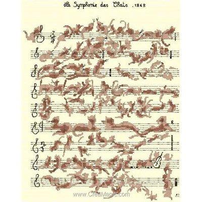 Symphonie des chats diagramme au point de croix - Anagram