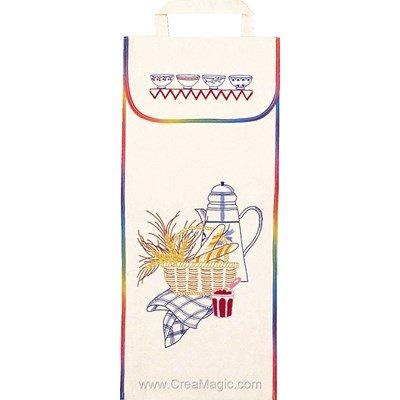 Kit sac à pain à broder les baguettes - Luc Création