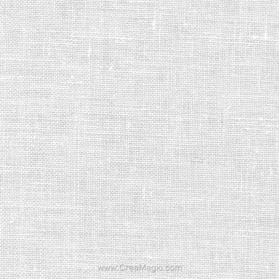Toile lin bristol 18 fils blanc (100) de Zweigart
