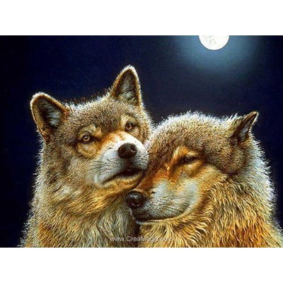 Kit broderie diamant pair of wolves - Diamond Painting