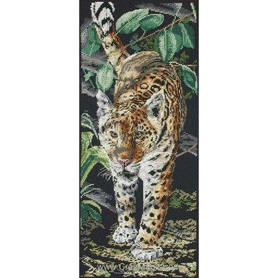 Modèle broderie point de croix léopard - Anchor