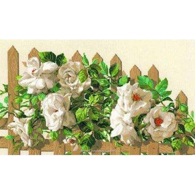 Kit point de croix de RIOLIS à broder barrière de roses
