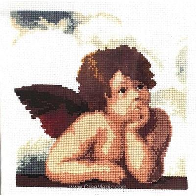 Kit à broder au point de croix Vervaco ange pensif