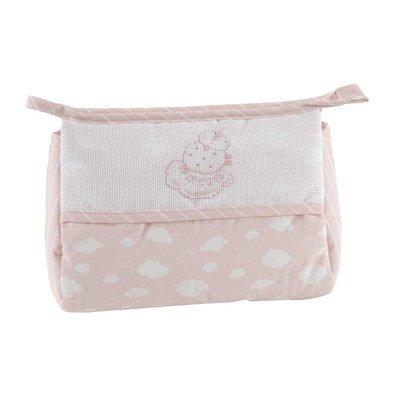 Trousse de toilette bébé à broder fille - nuage rose DMC