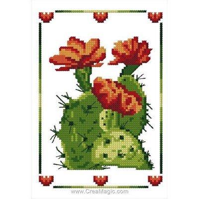 Cactus fleuri mini kit broderie - Luc Création