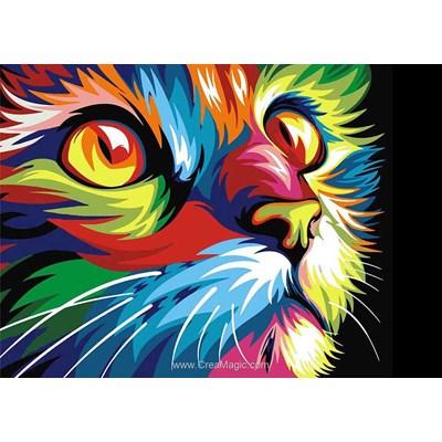 Broderie diamant Wizardi rainbow cat