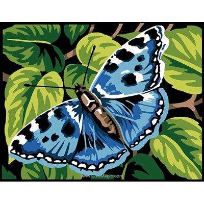 Kit canevas debutant papillon au repos de Margot