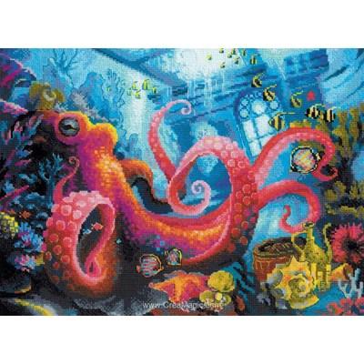 Broderie RIOLIS le royaume sous-marin