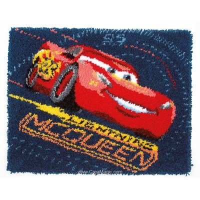 Kit tapis point noue disney cars lightning mcqueen de Vervaco