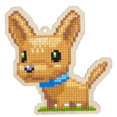 Kit broderie diamant Wizardi dog chang