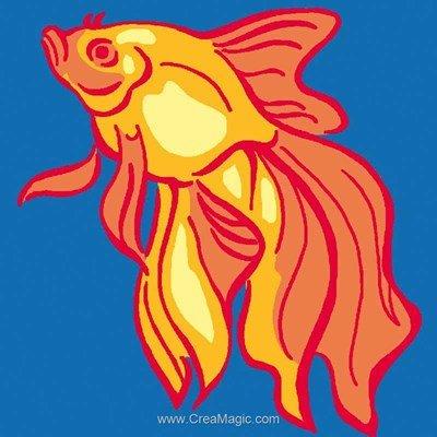 Kit canevas pour débutant Luc Création poisson royal