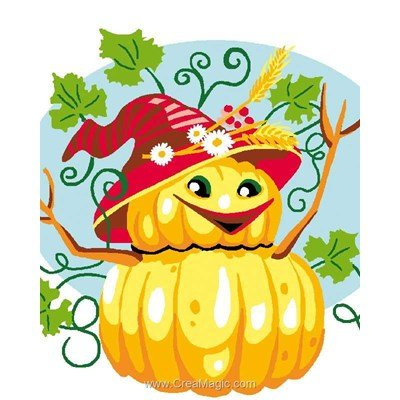Halloween heureux kit canevas Luc Création pour enfant