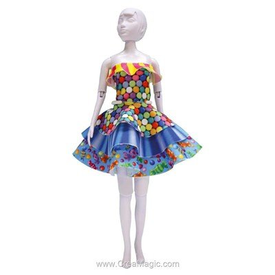 Kit patron maggy candy DRESS YOUR DOLL