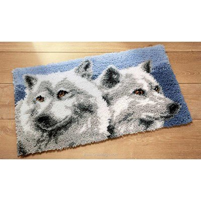 Kit tapis point noue les loups - Vervaco
